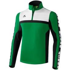 Erima 5-CUBES Training Top zöld/fekete/fehér zippes felső