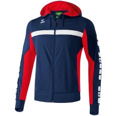 Erima 5-CUBES Training Jacket with Hood sötétkék/piros melegítő felső