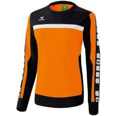 Erima 5-CUBES Sweatshirt narancs/fekete/fehér pulóver