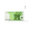 Eurós szalvéta, 10 db-os, többféle mintával