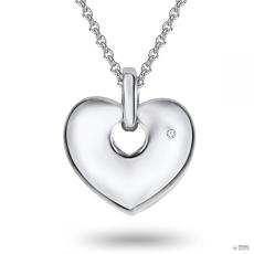 RafaelaDonata Láncnyaklánc kiegészítőszív Sterling ezüst Diamant