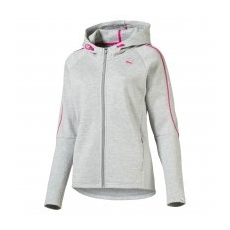Puma EVO FZ Hoody W Light Gray Heather S
