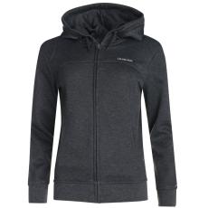 LA Gear Női kapucnis cipzáras pulóver sötétszürke XL