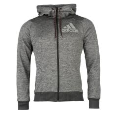 Adidas PrimePlus férfi kapucnis cipzáras pulóver szürke L