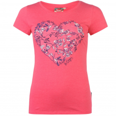 Lee Cooper Graphic női póló pink M