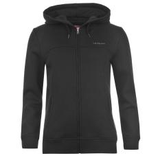 LA Gear Női kapucnis cipzáras pulóver fekete 4XL
