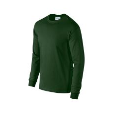GILDAN hosszú ujjú környakas póló, forestgreen