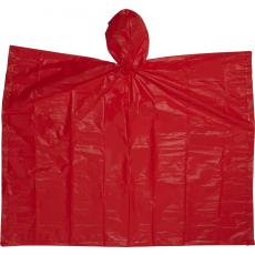 Esõkabát(poncsó) tokkal, piros  ( Esõkabát(poncsó) tokkal, Kb. 100 x 120 cm.)