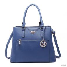 Miss Lulu London LT6611-MISS LULU PU bőr több-zseb bevásárló táska táska kézi táska navy