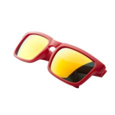 Matt műanyag napszemüveg, foncsorozott lencsével, Piros