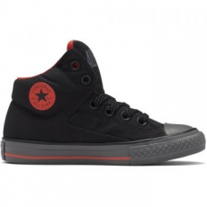 Converse Chuck Taylor All Star High Street gyerek tornacipő, Black/Signal Red, 34 (654279C-001-2.5)