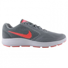Nike Revolution 3 női sportcipő, Wolf Grey/Orange, 36.5 (819303-002-6)