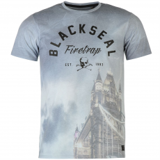 Firetrap Póló Firetrap Blackseal Tower Bridge fér.