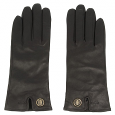 Tommy Hilfiger Női kesztyűk TOMMY HILFIGER - Th Coin Leather Gloves AW0AW0338 M/L 002