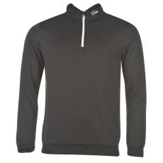 Dunlop Pullover férfi cipzáras nyakú pulóver fekete S