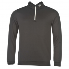Dunlop Pullover férfi cipzáras nyakú pulóver fekete M