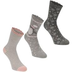 Miso Frill Dress 3 darabos női zokni szürke 37-42