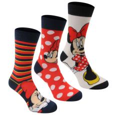 Disney Crew 3 darabos női zokni többszínű 37-42