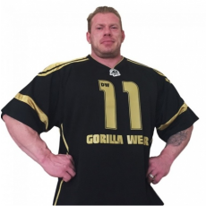 GW ATHLETE T-SHIRT DENNIS WOLF (BLACK/GOLD) [XL]