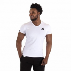 ESSENTIAL V-NECK T-SHIRT (WHITE) [XXL]