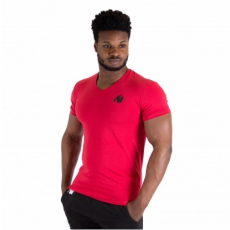 ESSENTIAL V-NECK T-SHIRT (RED) [XL]