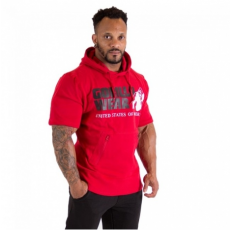 BOSTON HOODIE SHORT SLEEVE (RED) [XXXXL]