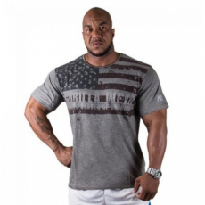 USA FLAG T-SHIRT (GREY) [XXXXL]