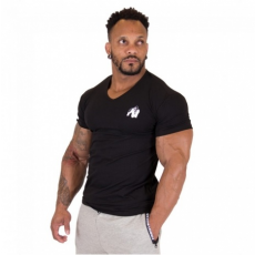 ESSENTIAL V-NECK T-SHIRT (BLACK) [XXXXL]