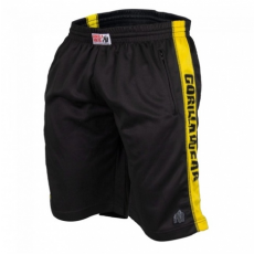 TRACK SHORTS (BLACK/YELLOW) [L/XL]