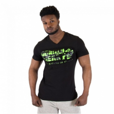 SACRAMENTO V-NECK T-SHIRT (BLACK/NEON LIME) [XXL]