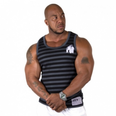 STRIPE STRETCH TANK TOP (BLACK) [S/M]