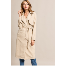 Missguided Kabát Soft Touch Belted Trench Coat