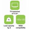 Techly fali tartó, TV LCD/LED/PDP dupla kar, 15-27'' 8 kg VESA, fehér