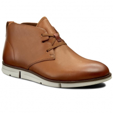 Clarks Bokacipő CLARKS - Trigen Mid 261222367 Tan Leather
