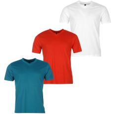 Donnay Three Pack férfi V nyakú póló fehér S