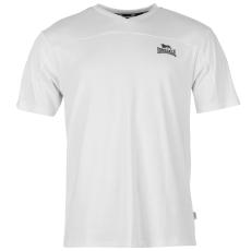 Lonsdale 2 Stripe férfi V nyakú póló fehér L