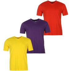 Donnay Three Pack férfi V nyakú póló piros M