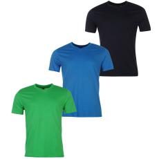 Donnay Three Pack férfi V nyakú póló kék L