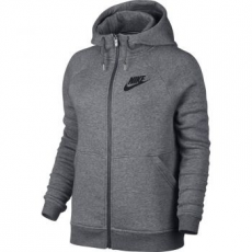 Nike Rally női kapucnis felső, Carbon Heather/Grey, M (803601-091-M)