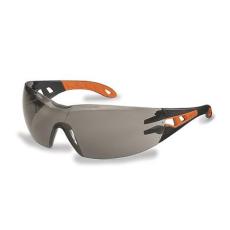 """. Védőszeműveg, füstszínű lencse, UVEX, """"Pheos"""" narancs-fekete szár"""