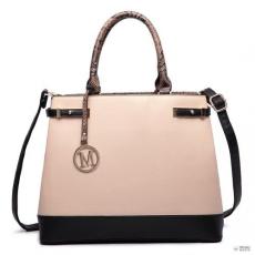 Miss Lulu London LT6617-MISS LULU bevásárló táska táska val zseb in szintetikus bőr válltáska táska