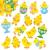Baker Ross Szivacsmatrica Húsvéti csibés 90db