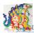 Quercetti FantaColor tüskejáték – 4 táblás képkirakó, 600 tüskével
