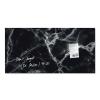 """SIGEL Mágneses üvegtábla, 46x91 cm, SIGEL """"Artverum® """",fekete márvány hatású"""