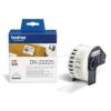 Brother Etikett címke DK22225, Fehér alapon fekete papírszalag tekercsben 38mm, 38mm x 30.48M (DK22225)