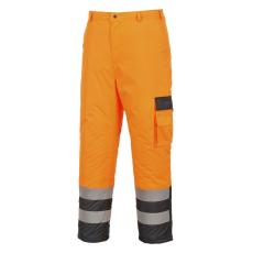 S686 - Hi-Vis Contrast nadrág - bélelt ( Narancs XL)