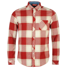 Kickers Flannel férfi hosszú pamut ing piros kockás L