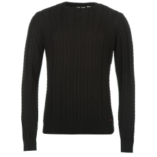 Lee Cooper Cable férfi kötött pulóver fekete L