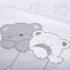 Klups 2 részes ágynemű - Macik csillaggal szürke-fehér