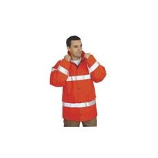 (RT34) Jól láthatósági lélegző kabát narancs